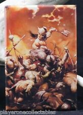 "Conan the Destroyer by Frazetta 2"" X 3"" Fridge / Locker Magnet."
