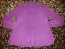 Gorgeous WHITE STUFF Pink cable knit  jumper ** SIZE 12 ** VGC