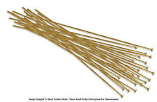 (20) 22k Gold Plated Head Pins 3 Inches Long 22 Gauge Wire Jewelry Findings