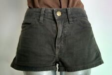 "AMERICAN APPAREL denim shorts hot pants size 25"" khaki 1.5""inseam"
