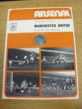25/08/1973 Arsenal v Manchester United  (Slight Creased)