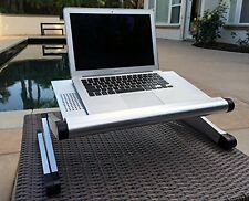 Adjustable Height Stand Up Lap Top Desk Table Portable Computer TV Tray Book NEW
