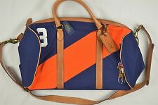NEW MEN'S Polo Ralph Lauren Canvas Leather Detail Duffel Bag $398 #81-44474