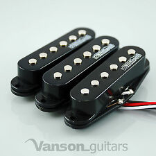 NEW Set of Wilkinson HOT Single Coil Pickups for Strat®* guitars, BLACK MWHS