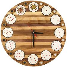 WOODEN CUSTOM MADE WALL HANGING CLOCK FINE ASH-TREE WOOD FOR DECOR UNUSUAL GIFT
