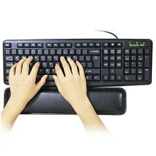 Black Gel Wrist Rest Support Comfort Pad for PC Keyboard Raised Platform Hands