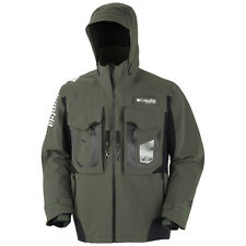 COLUMBIA PFG FireStorm WATERPROOF Breathable FISHING Hood JACKET Coat MEN sz XXL