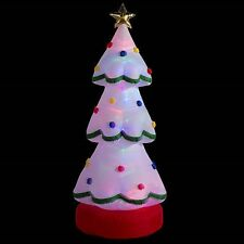 CHRISTMAS INFLATABLE LED 7' ANIMATED ROTATING CHRISTMAS TREE
