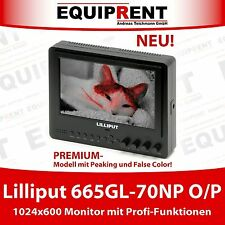 "Lilliput 665gl-70np o/P: 18cm/7"" LCD monitor HDMI + PEAKING + false color! eq507"
