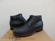 UGG CLANCY BLACK WATERPROOF LEATHER/ SHEEPSKIN ANKLE BOOTS, US 9/ EUR 42 ~NEW