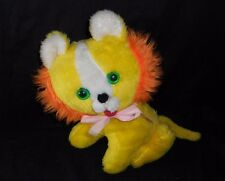 "11"" VINTAGE STERLING TOY MAKERS YELLOW ORANGE LION STUFFED ANIMAL PLUSH TOY"
