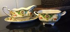 "Johnson Bros England ""Pareek"" Plymouth Gravy Boat and Sauce Bowl"