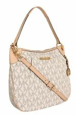 NWT Michael Kors Jet Set Large Convertible Shoulder Bag 30T3GTTL9B Vanilla
