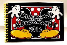 "Personalized Disney MICKEY MOUSE Autograph Book - Free Personalization 4""x6"""