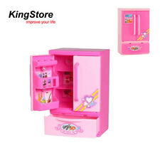 Educational Electric Children Kid Mini Pink Refrigerator Pretend Role Play Toy