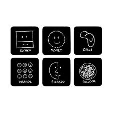 MoMA History of Art Coaster Set of 6 Artists Dali Picasso Warhol Desk Table Gift