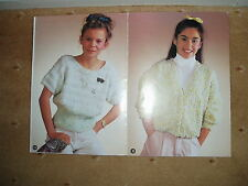 Richard Poppleton knitting pattern for girls/ladies tops and a cardigan - 203