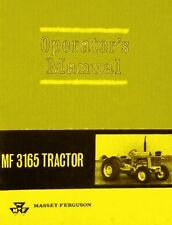 Massey Ferguson MF 3165 MF3165 Tractor Owners Operators Manual