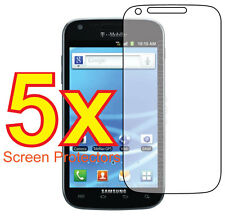5x Samsung Galaxy S2 T989 (T-Mobile) Clear LCD Screen Protector Guard Cover Film