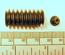 Worm gear - 4mm bore - with 2mm adaptor - black plastic