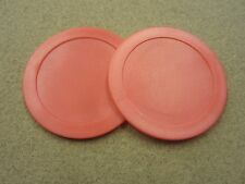 "2.5"" Red Air Hockey Pucks Qty 2 w/ FREE Shipping"