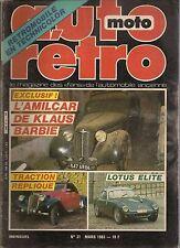 AUTO RETRO 31 LOTUS ELITE FORD VEDETTE BFG 1300 LINCOLN CONTINENTAL BMW 2002 Tii