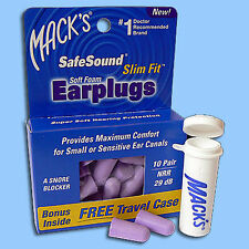 20 Mack's SafeSound Slim Fit Soft Foam Earplugs NRR 29 dB PZN 0050340 Ohrstöpsel
