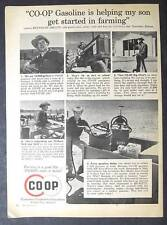 Original 1962 CO-OP Gas Ad Photo Endorsed by Reynolds Shultz of Lawrence Kansas