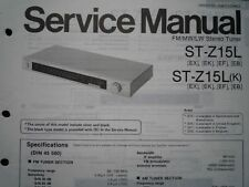 TECHNICS ST-Z15L ST-Z15LK Stereo Tuner Service manual wiring parts diagram