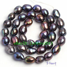 """8-10mm Natural Freshwater Cultured Pearl Freeform Gems Loose Beads Strand 15"""""""