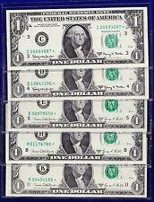 1963A, 1969D, $1 Federal Reserve Note frn STAR (AU) STAR NOTES