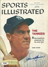 Hank Bauer Signed 1957 Sports Illustrated Magazine Cover PSA/DNA COA Yankees WS