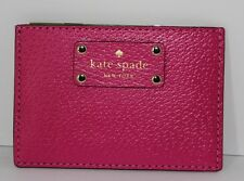 New Kate Spade Graham Wellesley Leather Card Case/Holder Sweetheart Pink $48 NWT