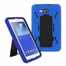 Blue 2in1 Hybrid Case Skin Cover For Samsung Galaxy Tab E Lite 7.0 / 3 7""