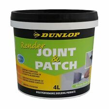 Dunlop RENDER JOINT & PATCH 4L Premix, Fibre-Cement Sheet Or Blueboard*USA Brand
