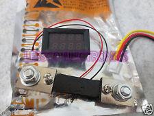 100A 10-200v DC Digital Voltmeter Ammeter LED Amp Volt Meter + Current Shunt