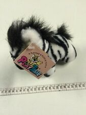 Vintage Playtime Soft  Plush MinI Zebra With Tag Con Cartellino