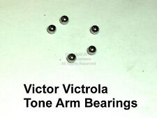 Victor Victrola & HMV Gramophone (5) Tone Arm Ball Bearings Phonograph Parts