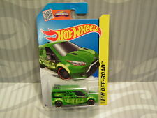 2015 HOTWHEELS ''HW OFF-ROAD'' #98 = FORD TRANSIT CONNECT = GREEN  int..