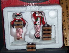 COCA - COLA CERAMIC HAND PAINTED DELIVERY MEN SET OF 2 DEPARTMENT 56 SNOW VILLGE