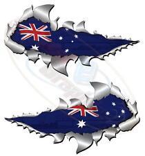 Large Size Australia Flag Metal Rip Open Sticker ,4X4 Race Car Truck Van boat