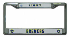 Milwaukee Brewers RETRO Metal Chrome License Plate Frame Auto Truck Car MLB