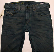 Diesel Men Jeans 40 W x 30 Thavar 808Z Distressed Made in Italy Brand New w Tags