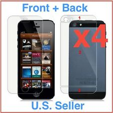 4x Front + Back Apple iPhone 5/5s HD Clear LCD Screen Protector Cover Guard