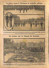 Soldats Médaille Militaire Caserne de Vincennes / Aumoniers Militaires WWI 1914