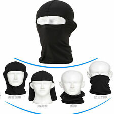 Black lycra Balaclava Full Face Mask Cycling Ski Hat Warm WinterHeadwear 45*25cm