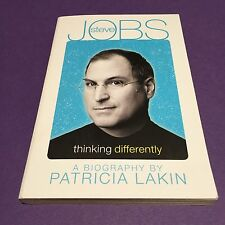 STEVE JOBS, THINKING  DIFFERENTLY A BIOGRAPHY BY PATRICIA LAKIN paperback