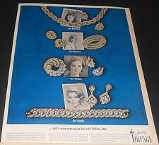 1963 Trifari Cavalcade rhinestone costume jewelry Christmas gifts print Ad