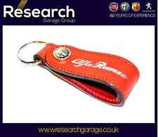 Alfa Romeo 147 156 159 MiTo GT Spider Brera Red Leather Key Ring Holder 46004883