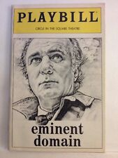 Playbill Eminent Domain at Circle in the Square Theatre April 1982! Very Clean!